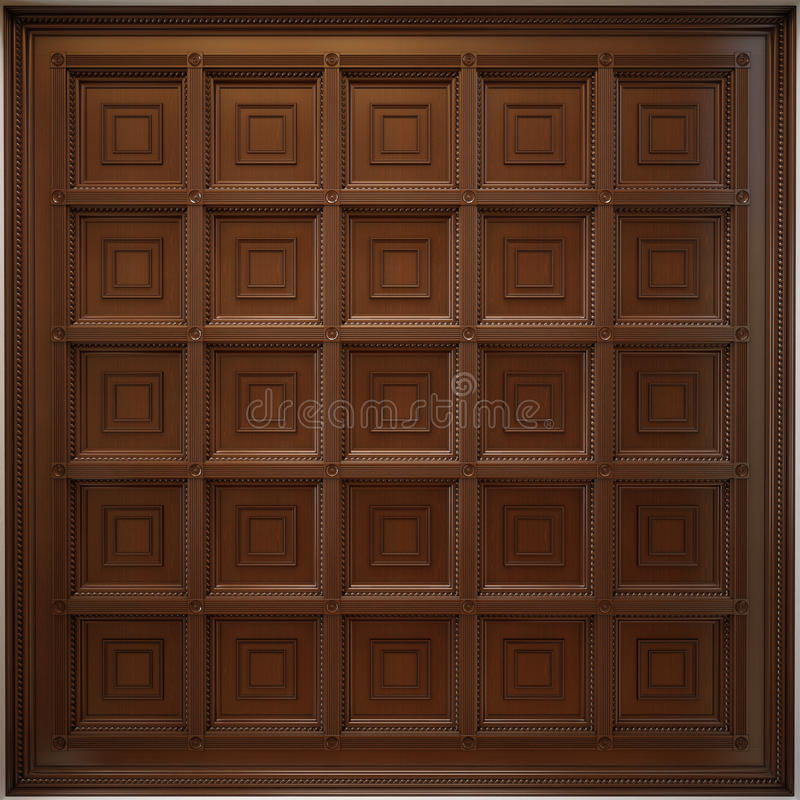 classical wooden caisson ceiling stock images image. Black Bedroom Furniture Sets. Home Design Ideas