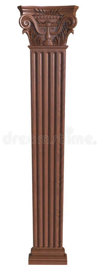 Free Classical Wooden Column Stock Photography - 75839452
