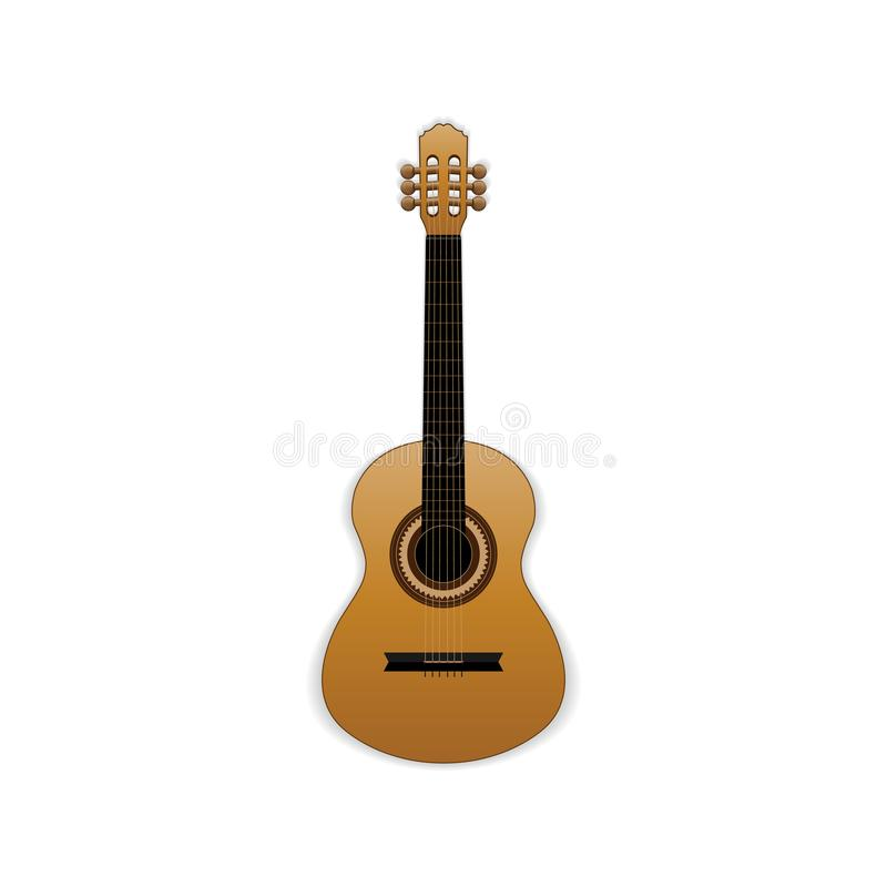 Classical wooden guitar. Vector illustration vector illustration