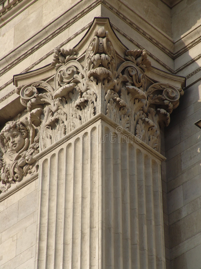 Classicist column head, St. Stephen's Basilica stock photography
