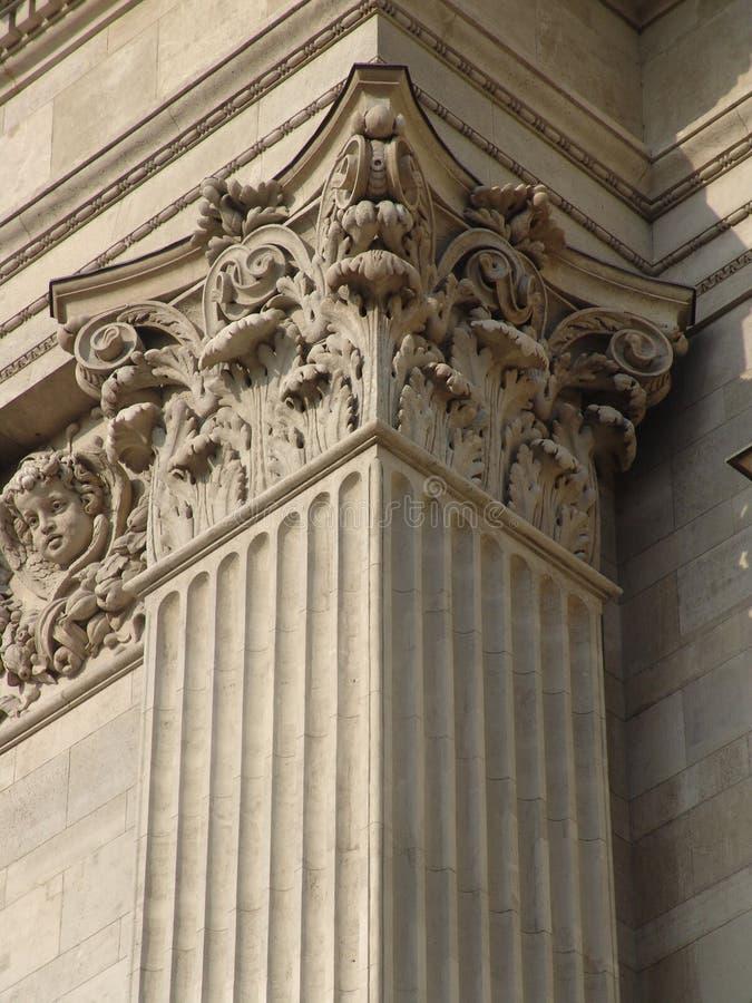 Classicist kolomhoofd, St. Stephen Basiliek stock fotografie