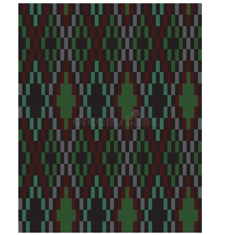 Classico Colourful Argyle Seamless Print Pattern moderno illustrazione di stock
