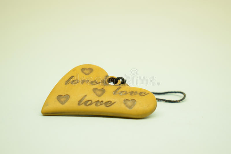 Classico di amore in legno fotografia stock