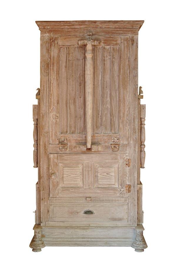 Classico di legno dell'apprettatrice isolato su bianco fotografia stock
