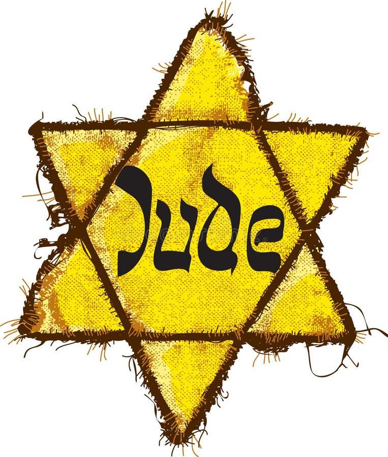 Classificação amarela judaica da estrela ilustração royalty free