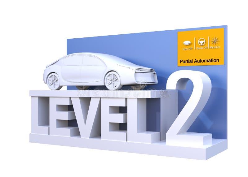 Classificação autônoma do carro do nível 2 ilustração royalty free