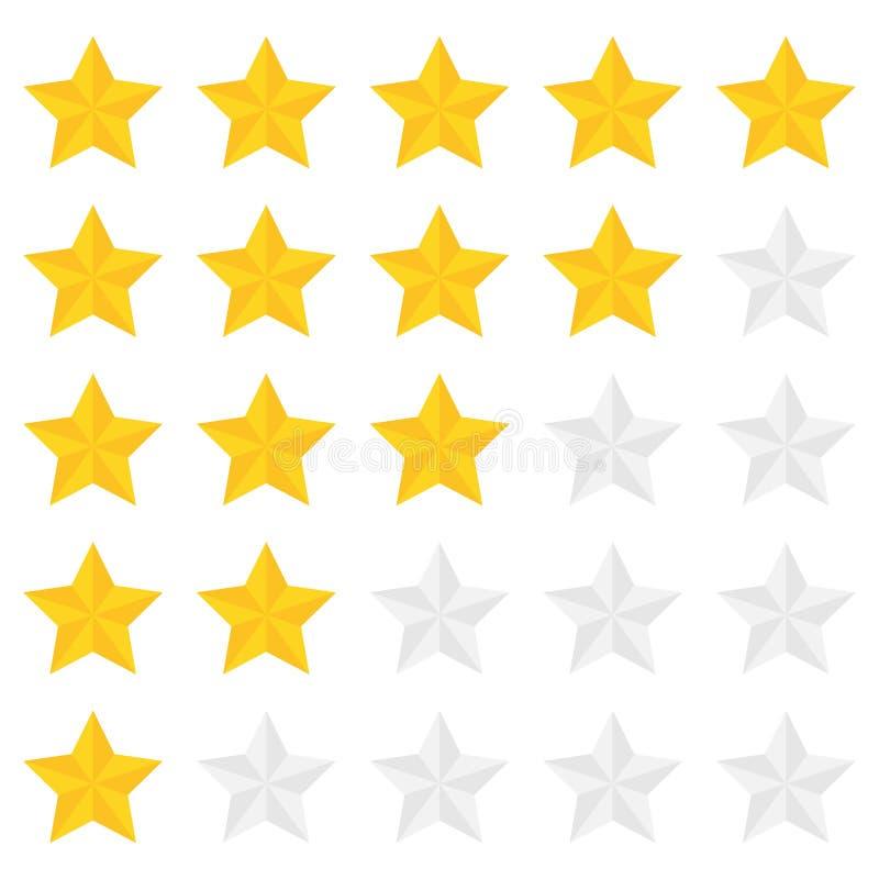 Classificação de cinco estrelas ilustração royalty free