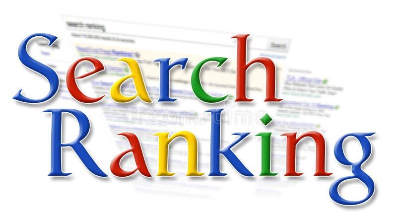 Classificação do Search Engine ilustração royalty free