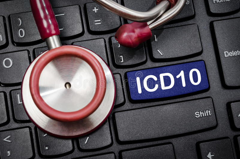 Classificação internacional das doenças e de saúde relacionada Prob imagens de stock