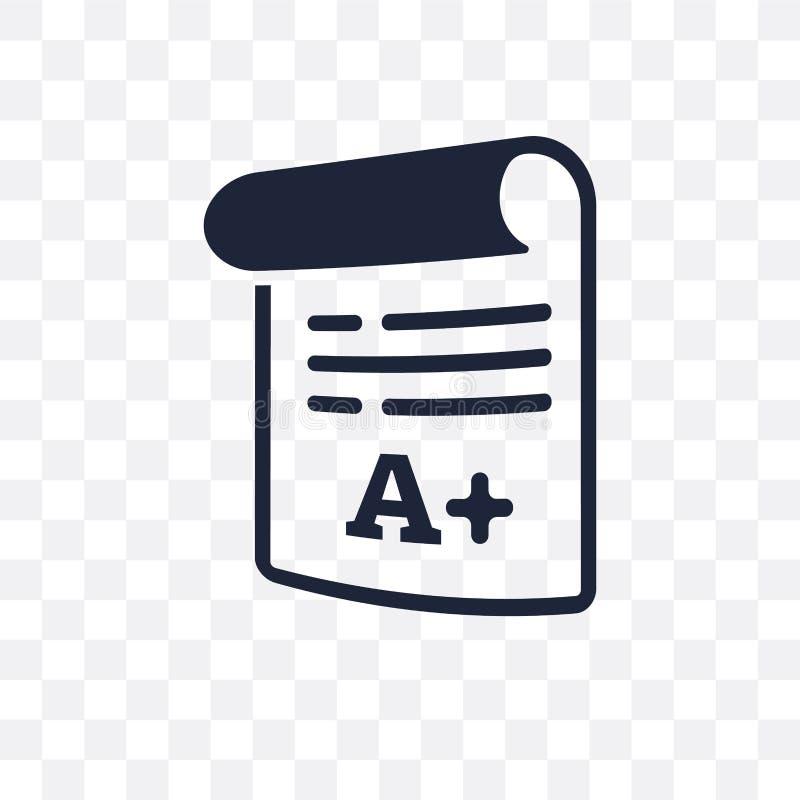 Classifica l'icona trasparente Progettazione di simbolo dei gradi dal learni online royalty illustrazione gratis