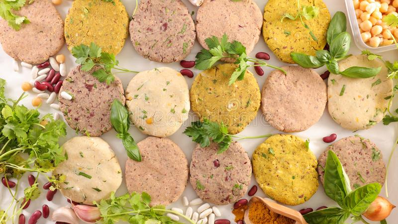 Classificado do hamburguer do vegetariano fotografia de stock