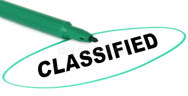 Classificado escrito no papel fotos de stock royalty free