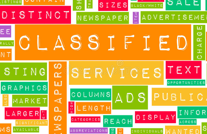 Classified Ads. For Buy and Sell Services vector illustration