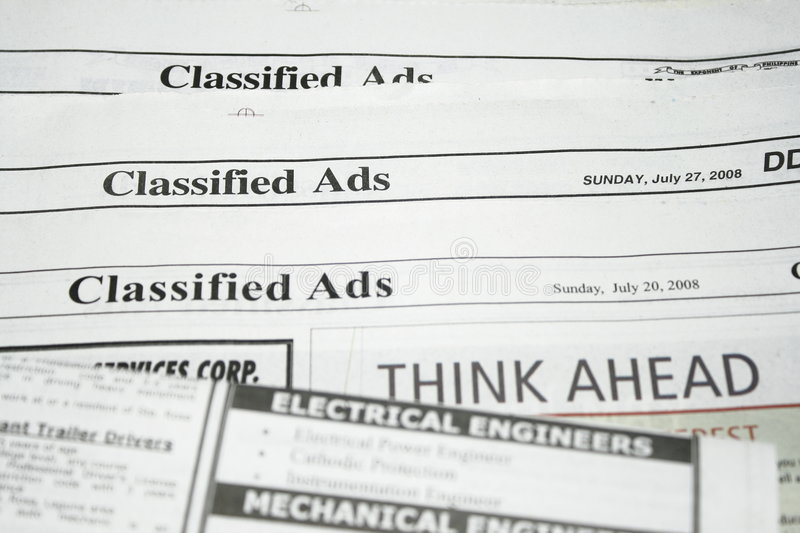 Classified Ads royalty free stock photography