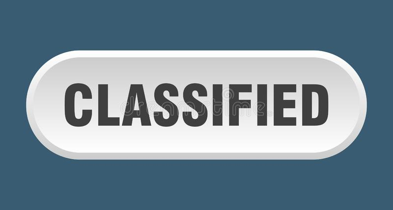 Classified button. Classified rounded isolated sign.  classified stock illustration