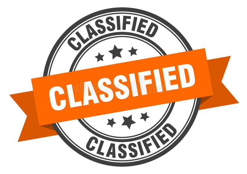 Classified label. Classified isolated sign.  classified vector illustration