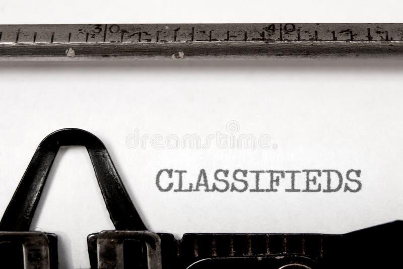 Classifieds стоковая фотография rf