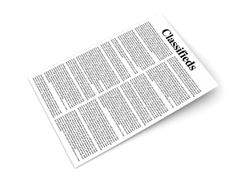 Classifieds illustration libre de droits