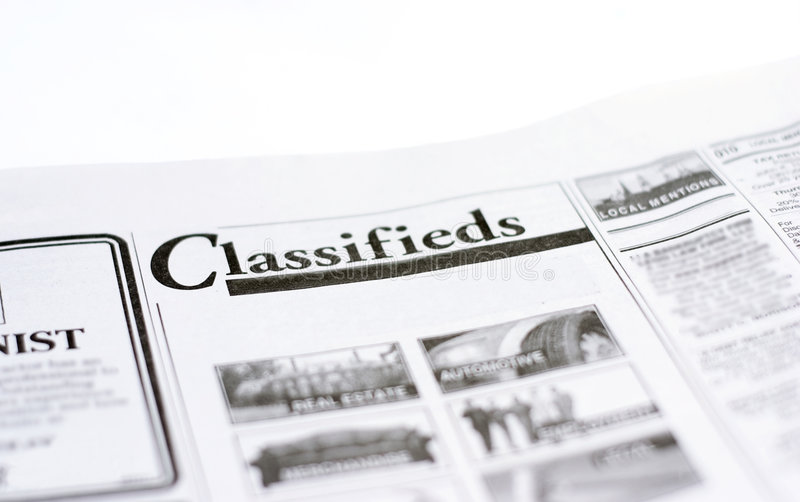 Classifieds image stock