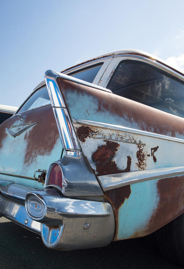 Classique Chevy Station Wagon 1957 image stock