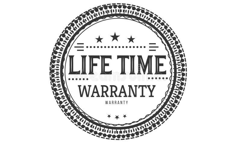 Classique de conception de garantie à vie, le meilleur timbre noir illustration de vecteur