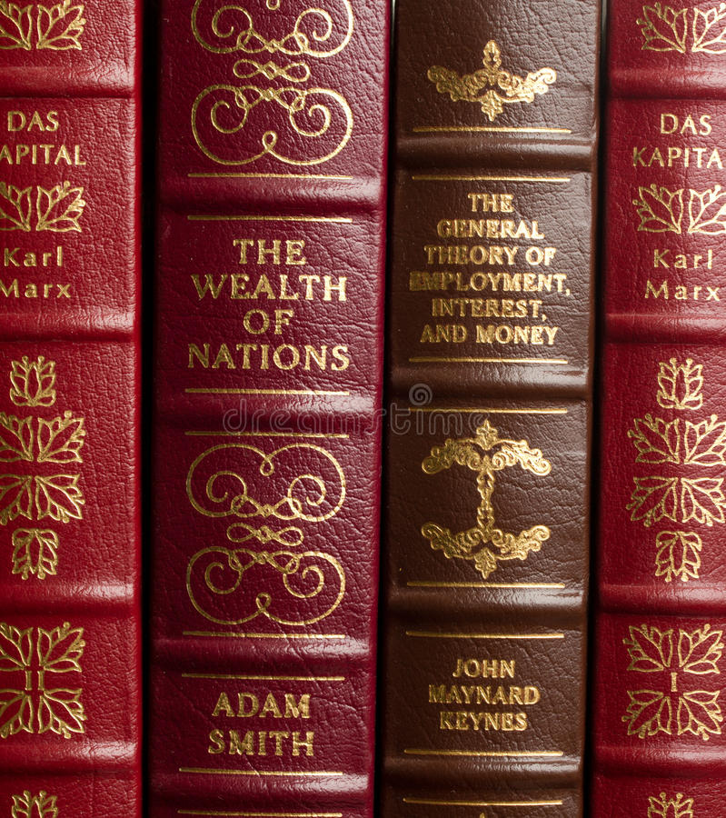 Classiques de sciences économiques photographie stock