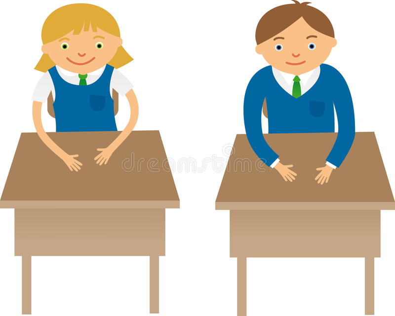 classmates stock vector image of adolescence studying