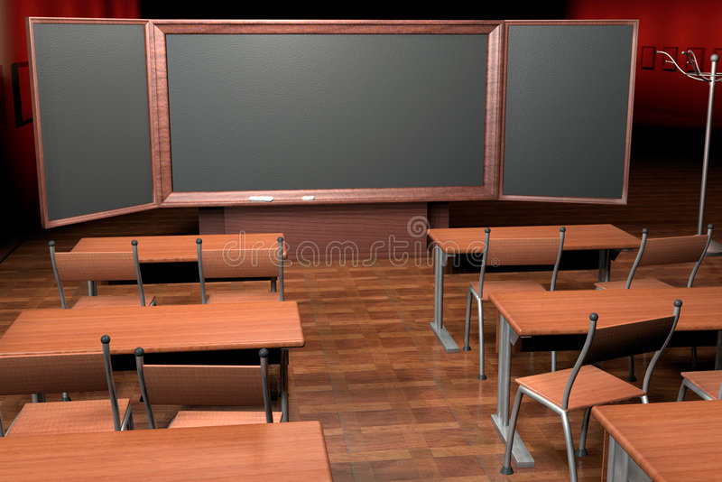 In a classroom. 3d computer image vector illustration