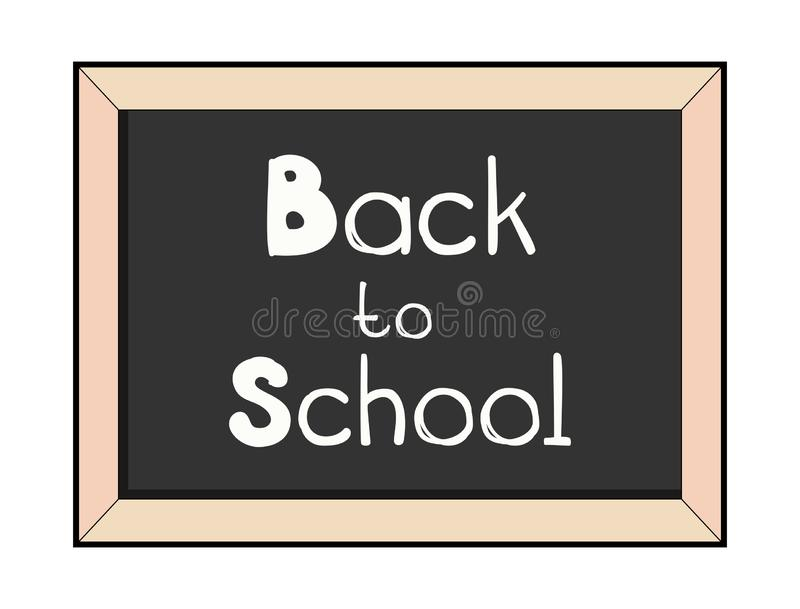Classroom blackboard isolated. Back to school lettering vector illustration. Chalkboard with chalk letters stock photos