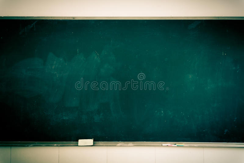Classroom blackboard stock image