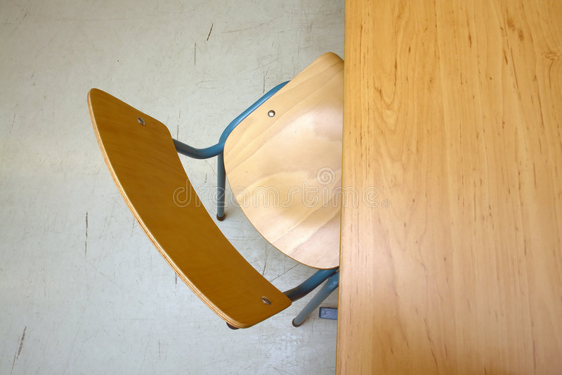 Classroom chair and desk royalty free stock images