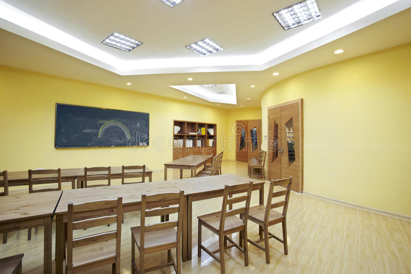 Download Classroom stock photo. Image of yellow, light, wood, classroom - 30641690