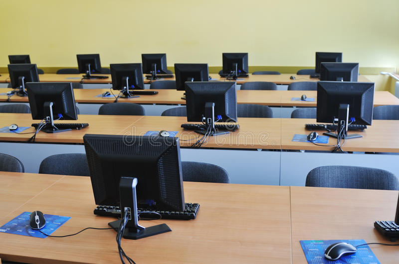 Download Classroom computer stock image. Image of business, monitor - 9515003