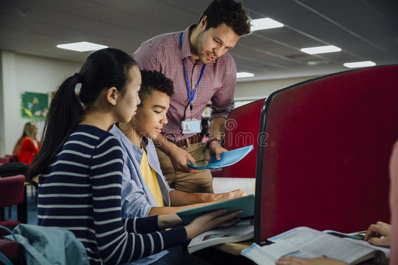 Classroom Computer Work royalty free stock photography