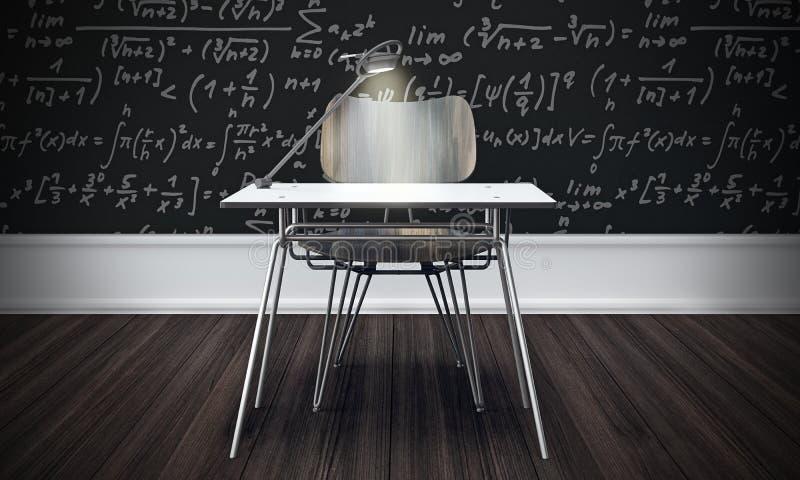 Download Classroom Concept With Wood Floor 3d Render Stock Illustration