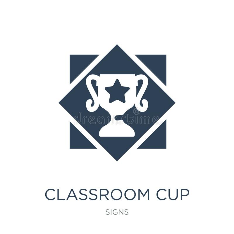 classroom cup icon in trendy design style. classroom cup icon isolated on white background. classroom cup vector icon simple and vector illustration