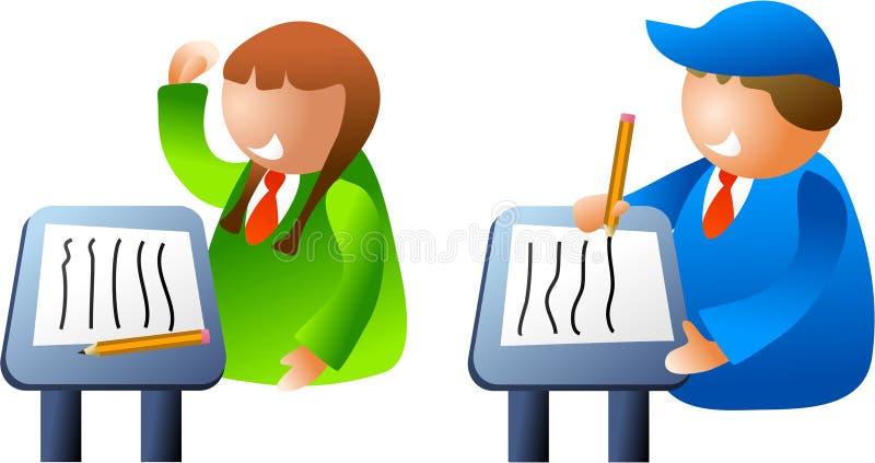 Classroom kids royalty free illustration