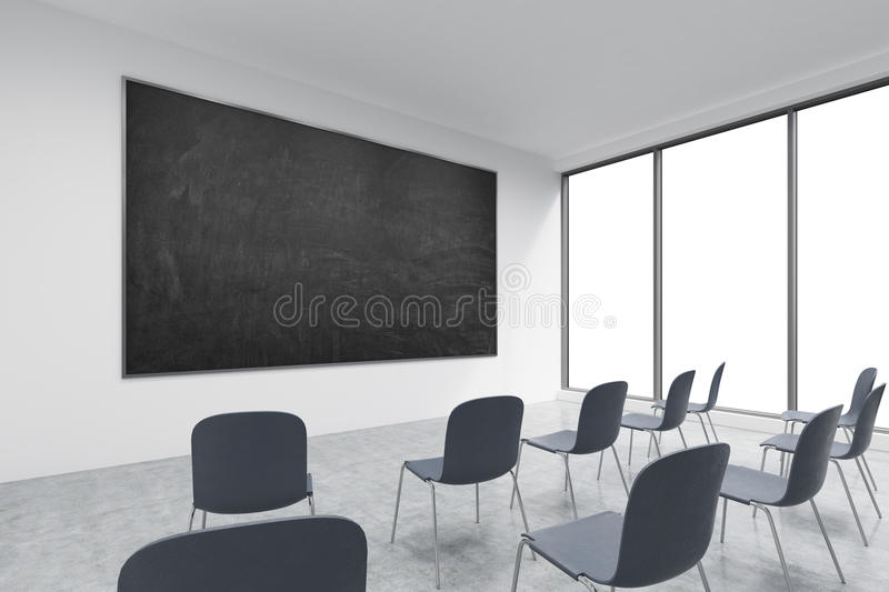 A classroom or presentation room in a modern university of fancy office. vector illustration