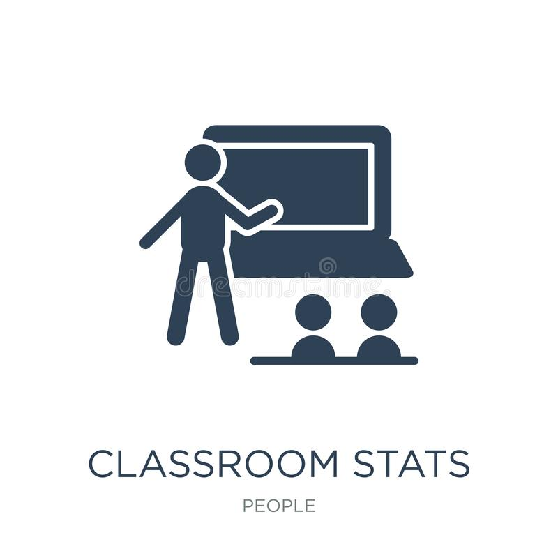 classroom stats icon in trendy design style. classroom stats icon isolated on white background. classroom stats vector icon simple stock illustration