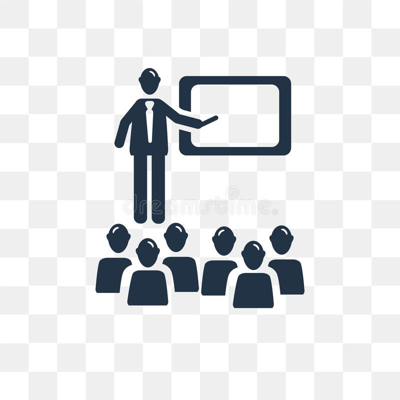 Classroom vector icon isolated on transparent background, Classroom transparency concept can be used web and mobile. Classroom icon stock illustration