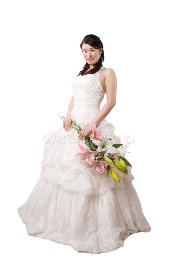 Classy asian bride royalty free stock photos
