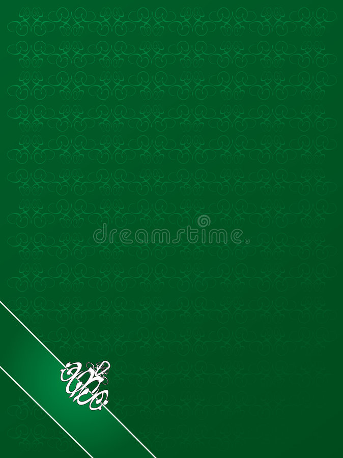 Classy Background Green Stock Image