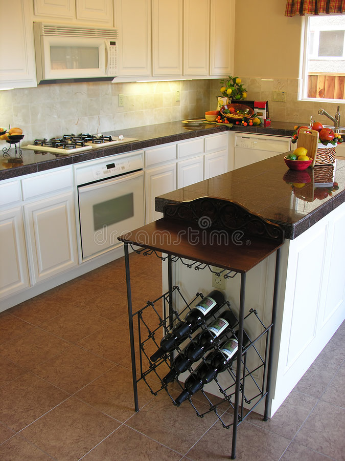 Classy Clean Kitchen royalty free stock photo