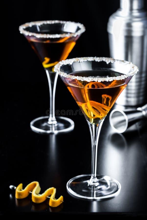 Free Classy Orange Citrus Martinis Stock Photography - 79018322