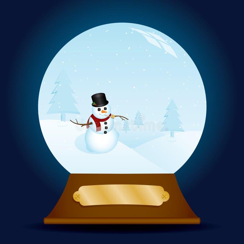 Download Classy Snowman Snow Globe stock vector. Image of nostalgic - 16383449