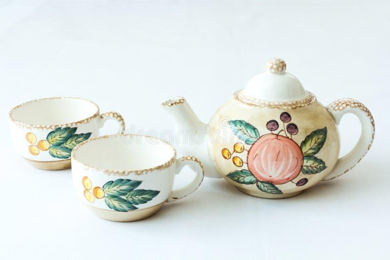 Classy tea set stock photo