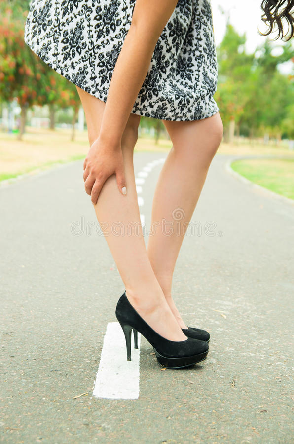 Classy woman wearing fashionable skirt and elegant royalty free stock photography