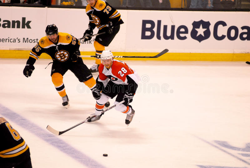 Claude Giroux Philadelphia Flyers. Philadelphia Flyers forward Claude Giroux #28 royalty free stock photos