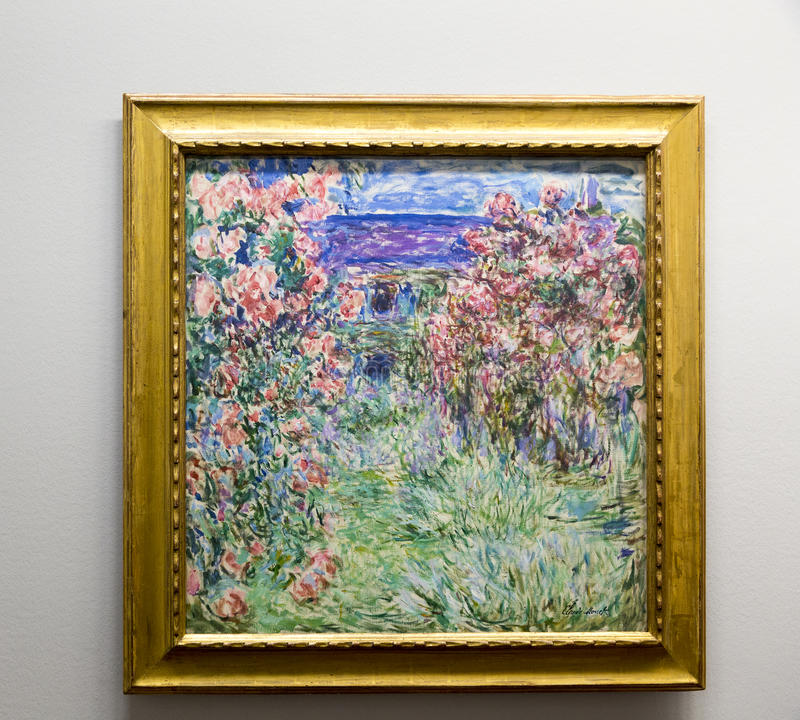 Claude Monet - bij het museum van Albertina in Wenen stock foto