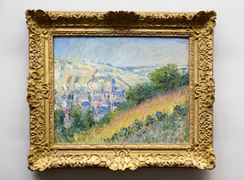 Claude Monet - en el museo de Albertina en Viena fotografía de archivo libre de regalías